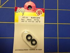 AJ'S 100 Silicone Black Cats Tires TYCO HP7 Tomy AFX Turbo Aurora Magnatraction
