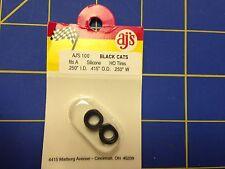 AJ'S 100 Silicone Black Cats Tires TYCO HP7 Tomy AFX Turbo Aurora Magnatraction
