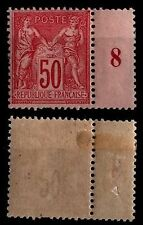 SAGE 50c rose Type II, Neuf * Gommé = Cote 275 € / Lot Timbre France n°98