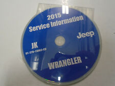 2015 JEEP WRANGLER Service Information Repair Service Shop Manual CD DVD OEM
