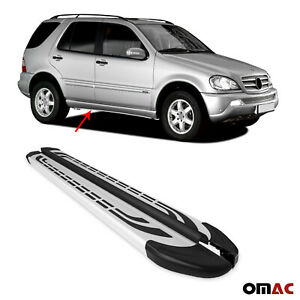 Side Steps Running Boards Nerf Bars Aluminum 2 Pcs For MB M Class W163 1998-2005