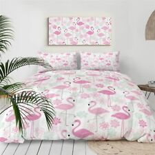 Pink Flamingo Duvet Cover Set Animal Bird Bedding Set King Bed Cover 3 Pieces