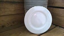 24 Stück Speiseteller Grillteller Teller flach 25cm Porzellan weiss  für Feste