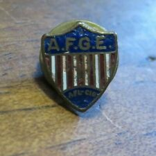 VINTAGE AFL- CIO Labor Union A.F.G.E. Shield Post Back Enamel Pin GREAT SHAPE