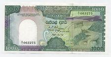 Sri Lanka 1000 Rupees 1-1-1987 Pick 101 UNC Uncirculated Banknote