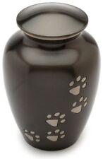 Urns UK Matlock Urne Funéraire en Étain pour Animal de Compagnie Noir 15 cm