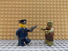 2 LEGO Brand New Mini Figures Policeman & Gun Zombie Apocalypse Scary Dead Set