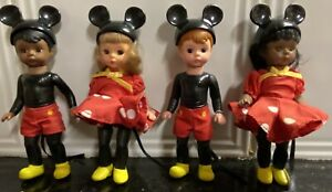 FOUR MCDONALD'S MADAME ALEXANDER MICKEY MOUSE DOLLS (TWO AFRICAN AMERICAN): 2004