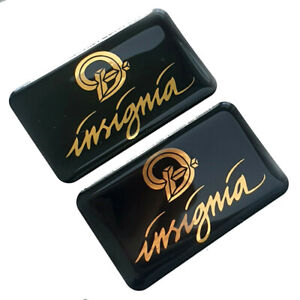 2x Daimler XJ40 Insignia - Replacement Badge Inserts - Black & Gold