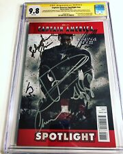 CGC SS 9.8 Captain America Spotlight #nn signed Evans Atwell Lee Stan Tucci +4