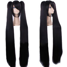 Hatsune Miku Wig Vocaloid Miku Cosplay Long Bunches Cosplay Hair Props Black COS