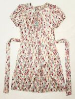 BNWOT Alannah Hill Sz 12 Ladies Dress Frock Cream Tumbling Walls Story Glam Silk