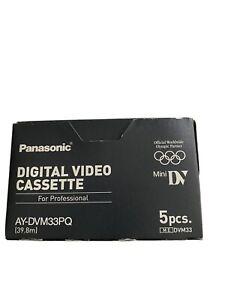 Digital Video Cassettes. Unused, Still In Wrapper. Box Of 5. Each 60' Long.