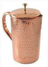 Pure Copper Hammered Jug Pitcher Pot 1.5 Liter Water for Good Health Benefits