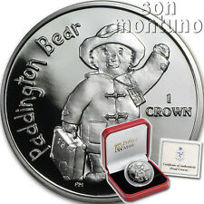 PADDINGTON BEAR - Sterling Silver Proof Coin in BOX with COA - 2015 ISLE OF MAN