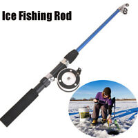 New Spinning Portable Winter Reels Retractable Ice Fishing Rods Pen Pole