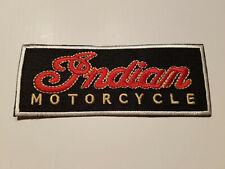 AUFNÄHER  CLASSIC INDIAN MOTORCYCLE 11,5x5cm BESTICKT! EMBROIDERY PATCH ECCUSON!