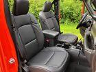 2020 2021 Jeep Wrangler Jl Sahara Sport Katzkin Black Leather Seat Covers Kit