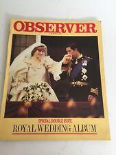 UK Observer Magazine 2 August 1981 - Royal Wedding Album - Charles and Diana