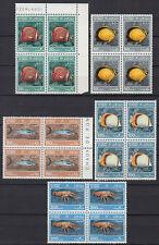 Oman 1985 ** Mi.285/89 Bl/4 Fische Fishes Meerestiere Marine Creatures [ov172]