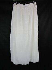 CP Shades/Free People Ivory White Silk Blend Maxi Skirt Size XS / UK 8