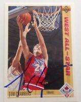 Tom Chambers 1992 Upper Deck Hand Signed Card Phoenix Suns RACC