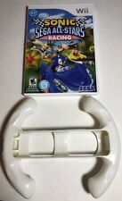 Sonic & Sega All-Stars Racing (Wii) W/ Racing Wheel (Fast Free Shipping Day Of)
