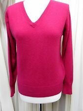 GORGEOUS COLLECTION AT GEORGE PINK CASHMERE V NECK SWEATER SIZE 14