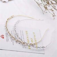 Fashion Women Crystal Rhinestone Pearl Headband Piece Ladies Girls Hairband/*