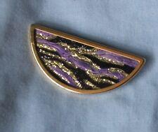 Vintage brooch UHLIG brooch 1970's hand painted vintage silk brooch RARE!