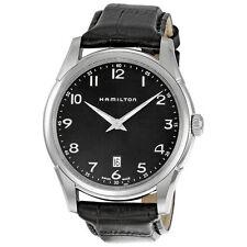 Hamilton Jazzmaster Black Leather Mens Watch H38511733-AU
