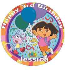 "Dora The Explorer Personalised Cake Topper 7.5"" Edible Wafer Paper Birthday"