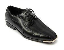 Roberto Chillini Black Formal Satin Tuxedo Silver Tip Dress Shoes Mens 11