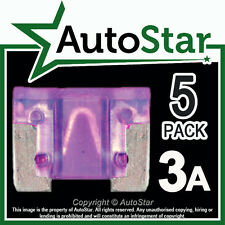 3 Amp Micro Fusibles X 5 – Automotriz Fusible-de bajo perfil, Mini, APS, att 3a 3amp un