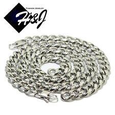 "24""MEN Stainless Steel HEAVY WIDE 12mm Silver Cuban Curb Chain Necklace Bracelet"