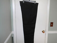 Work'n Gear Mens Pants Size 40 X 29 Black Casual or Work Pants Flat Front New