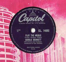 "Carole Bennett - Play The Music 10"" Single 1957 / 78 rpm"