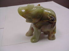"""Elephant Statue, Real Onyx, 3"""" Tall,  Mined / Handcarved in Pakistan A-118-K"""
