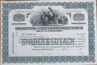 1910 Trolley Stock Certificate: 'Philadelphia & Garrettford Street Railway' - PA