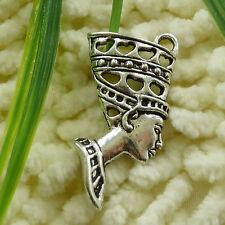 Free Ship 22 pieces tibetan silver queen pendant 39x19mm #1199