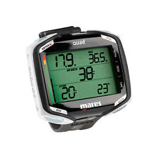 Mares Quad Dive Wrist Mount Computer Scuba Diving Dive Black White 414134 BKWH