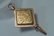 Vintage Delta Sigma Rho organization Key/Charm 10K Gold