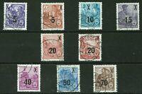 DDR 1954 Mi.:435-442 Fünfjahrplan Satz Gestempelt