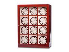 Uhrenbeweger Uhrenvitrine für 24 Uhren Wurzelholz WatchWinder