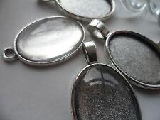 10 Mixte 25x18mm pendentif en ARGENT/Porte-clés Making Kit 5 de chaque paramètres 10 verre