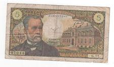 Billet 5 francs Pasteur 1968 TB