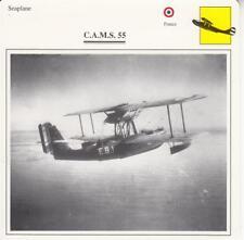 D10753310  Warplane Collectors Card. French Seaplane. C.A.M.S. 55