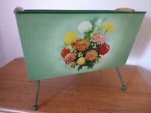 Vintage 1950's Worcester Ware magazine rack floral