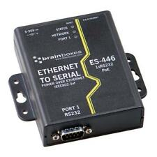 Brainboxes Ethernet 1 Port Rs232 Power Over Ethernet Poe - 1 X Network (es446)