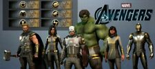 OBSIDIAN COSTUME silver outfit NAMEPLATE Marvel Avengers DLC PACK PS4 XBOX ONE